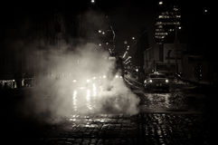 Nachtprag-Straße Stockfotografie