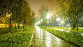 Nachtquadrat Lizenzfreies Stockfoto