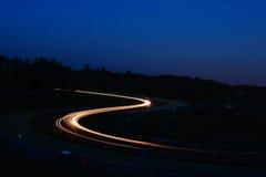 Nachtrennen stockbilder