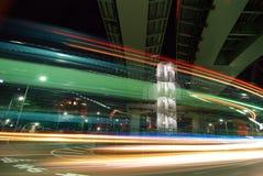 Nachtrennen Stockfotos
