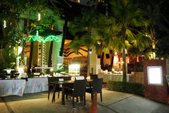 Nachtrestaurant Stock Afbeelding