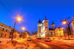 Nachtscène, Baia-Merrie, Roemenië Stock Afbeeldingen