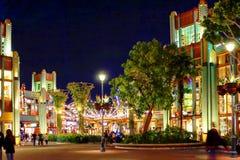Nachtscène in Disneyland, Californië stock foto