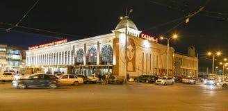 Nachtscène in kazan, Russische federatie royalty-vrije stock afbeelding