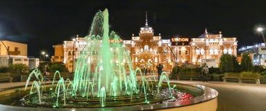 Nachtscène in kazan, Russische federatie royalty-vrije stock afbeeldingen