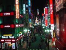 Nachtscène Tokyo Royalty-vrije Stock Foto