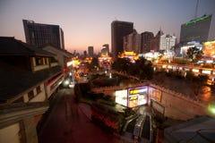 Nachtscène van de Historische plaats van Jinma Biji Royalty-vrije Stock Fotografie