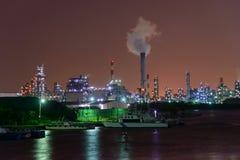 Nachtscène van Fabrieken Royalty-vrije Stock Foto