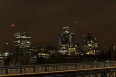 Nachtscène van Londen het Verenigd Koninkrijk Royalty-vrije Stock Foto's