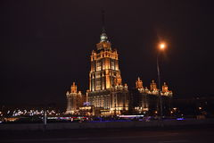 Nachtscène van Moskou Royalty-vrije Stock Foto