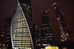 Nachtscène van Moskou Stock Afbeelding