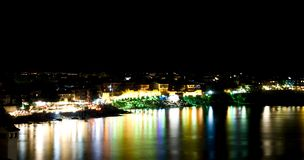 Nachtscène van Sozopol, Bulgarije royalty-vrije stock afbeeldingen