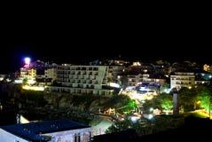 Nachtscène van Sozopol, Bulgarije Royalty-vrije Stock Fotografie