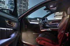 Nachtscène voor een auto Royalty-vrije Stock Fotografie