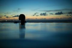 Nachtschwimmen in den Türken und in Caicos Lizenzfreie Stockbilder