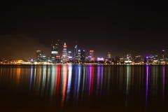 Nachtscène van de Stad van Perth Stock Afbeelding
