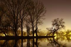Nachtsilance Stock Foto's