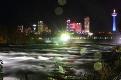 Nachtskyline 4 Niagara Falls Kanada Stockfoto