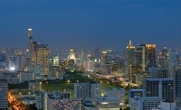 Nachtskyline von Bangkok Lizenzfreies Stockfoto