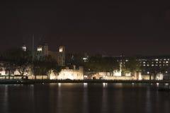 NachtSkyline von London Lizenzfreie Stockfotografie