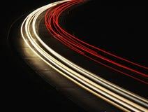 Nachtspuren Stockfoto