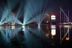Nachtstad Stock Afbeeldingen