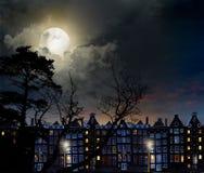 Nachtstad Amsterdam Stock Afbeelding