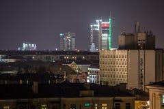 Nachtstad van hoog punt Stock Afbeelding