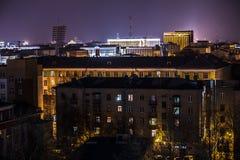 Nachtstad van hoog punt Royalty-vrije Stock Foto