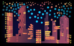Nachtstadt Vektor Abbildung