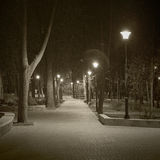 Nachtstadt stockfoto