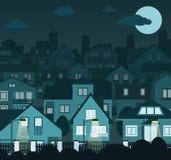 Nachtstadt Stockbilder