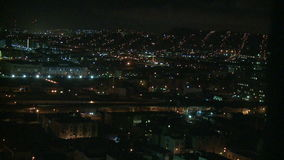 Nachtstadt-Ansicht - Los Angeles - Zeitspanne stock footage