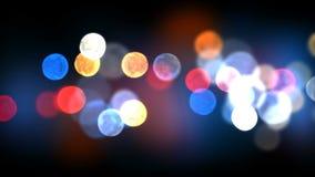 Nachtstadt beleuchtet nahtlose Animation 3d mit Aufflackern Geschlungene defocused helle Blinklichtdekoration CG 4K ultra HD stock video footage