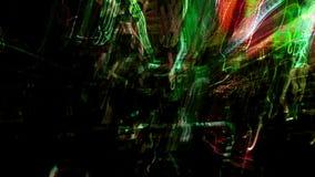 Nachtstadt-Lichtzusammenfassung stock abbildung
