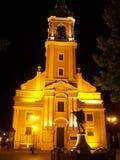 Nachtstadt - Torun Stockbild