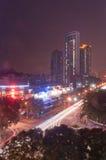 Nachtstadt in Zhuhai, China lizenzfreies stockbild