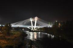 Nachtstadtbild, Hall Lizenzfreies Stockfoto