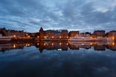 Nachtstadtbild von Gdansk Stockbilder