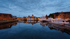 Nachtstadtbild von Gdansk Lizenzfreies Stockbild