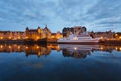 Nachtstadtbild von Gdansk Stockbild