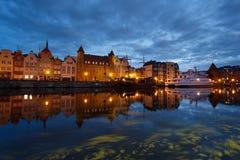 Nachtstadtbild von Gdansk Stockfotografie