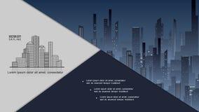 Nachtstadtbild-Zusammensetzung stockfoto