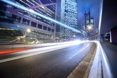 Nachtstadthintergrund Stockfotos