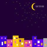 Nachtstadtillustration Stockfoto