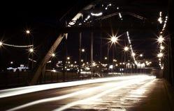 Nachtstadtleuchten Stockfotos
