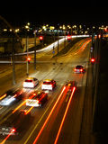 Nachtstadtleuchten Stockfotografie