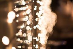 Nachtstadtlichter, abstrakter Hintergrund vibrant Stockfoto