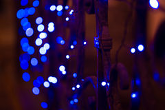 Nachtstadtlichter, abstrakter Hintergrund vibrant Lizenzfreie Stockbilder