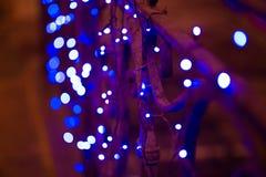 Nachtstadtlichter, abstrakter Hintergrund vibrant Stockbild